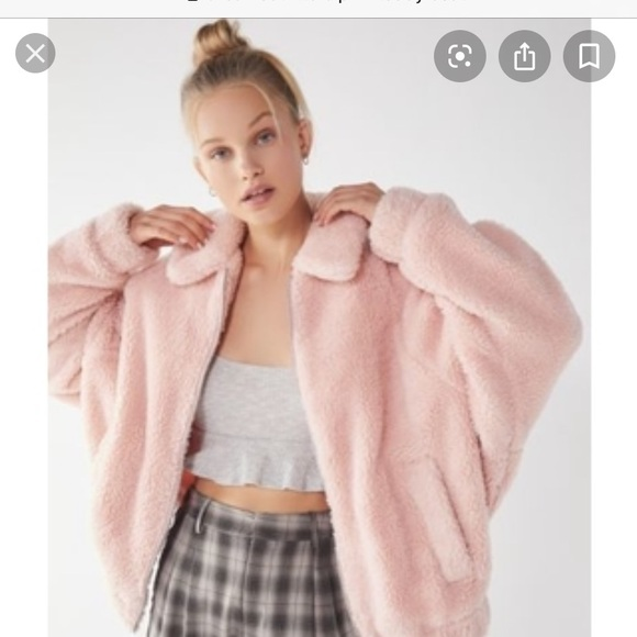 Urban Outfitters Jackets & Blazers - Urban Outfitters Light Pink Teddy Coat